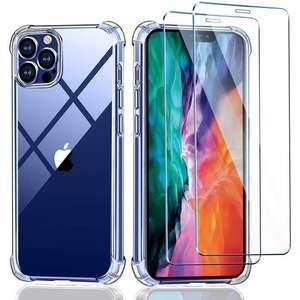 """Coque 6.1"""" pour Smartphone iPhone 12 et 12 Pro + 2 Verres Trempé écran Protecteur (Vendeur Tiers)"""