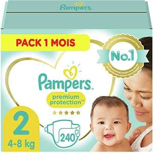 Paquet de 240 Couches Pampers Premium Protection - Taille 2