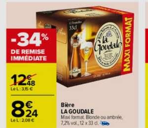 Pack de 12 bouteilles de Bière blonde ou ambrée La Goudale - 12x33CL