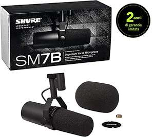 Microphone studio Shure SM7B - Dynamique cardioïde, XLR
