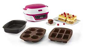 Appareil à gâteaux Tefal Cake Factory KD801812 (blanc/framboise) + 3 moules