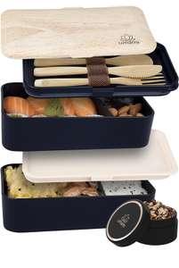 Lunch box Umami 1200ml + couvert et pot à sauce (Vendeur Tiers)