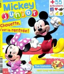 Abonnement de 12 mois au magazine Mickey Junior - 12 numéros (Version numérique incluse)
