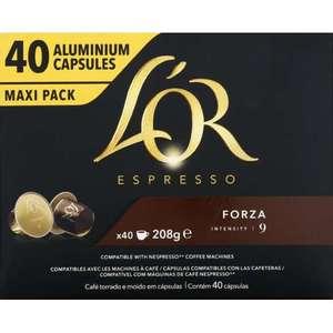 40 Capsules de café L'Or Espresso Forza Intensité 9