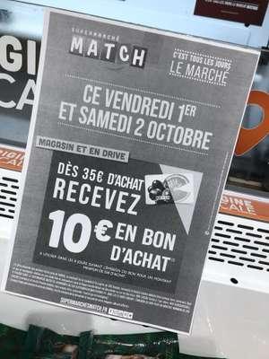 10€ offerts en bon d'achat pour 35€ d'achat (Gérardmer 88)