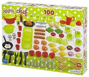 Coffret dînette 100 % Chef Ecoiffier - 100 pièces