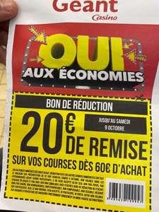 20€ de réduction dès 60€ d'achat - Villenave d'Ornon (33)