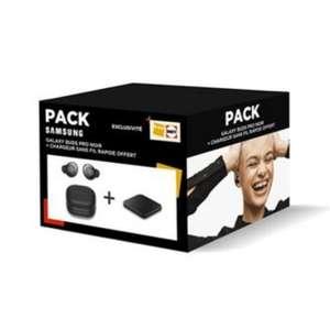 Pack Ecouteurs sans fil Bluetooth Samsung Galaxy Buds Pro Noir et chargeur sans fil Pad à induction Samsung