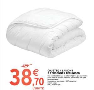 Couette Technisom - 4 Saisons, 2 Personnes, 240x220cm, 100% polyester