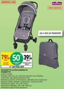 Poussette ultra-compacte Pommette avec Sac de transport (Via 40€ sur Carte Fidélité)