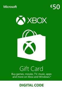 Carte cadeau Xbox Live d'une valeur de 50€ (Dématérialisé - Frais inclus)