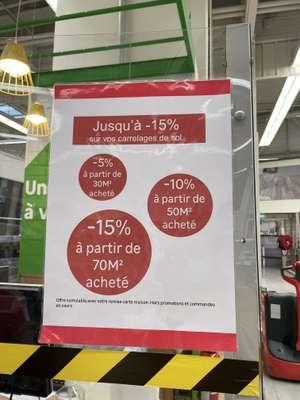 Jusqu'à -15% dès 70 m² de carrelage acheté - Bonneuil (94)
