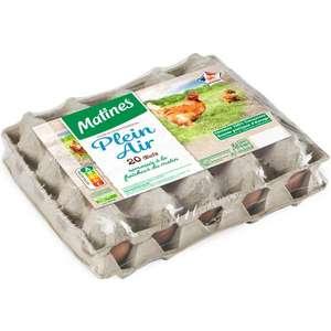 Boîte de 20 œufs Matines - Plein air, Origine France
