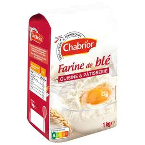Lot de 2 paquets de 1Kg de Farine de blé Chabrior (2×1kg) - Cuisine et pâtisserie