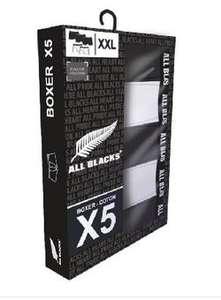 Le coffret de 5 boxers All Blacks - 100% coton, pour Homme - Taille S au XXL