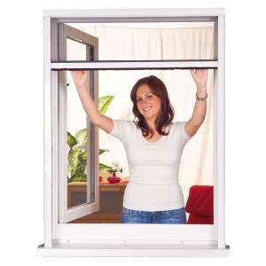 Moustiquaire en Aluminium recoupable Whiteline Store - Blanc, 125 x 170 cm