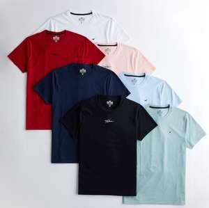 Lot de 7 T-shirt Ras du cou - 100% coton