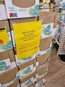 Lot de 14 paquets de lingettes Pampers Harmonie Aqua (14 x 48 lingettes) - Pharmacie des grandes terres à Marly-le-Roi (78)