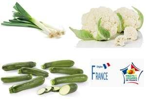 Chou Fleur la pièce , botte 1 kg poireaux ou 1 kg de courgette ( Origine France )