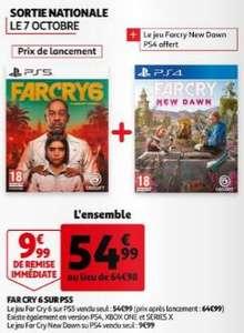 Far Cry 6 sur PS5 / PS5 / Xbox One & Series X + Far Cry New Dawn sur PS4