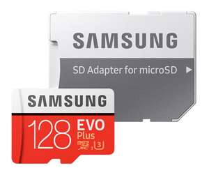 Carte microSDXC Samsung EVO Plus (U3, 128 Go) + Adaptateur SD (Entrepôt France)