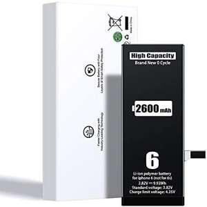 Batterie de remplacement pour iPhone 6, 6s, SE et 7 - 2600 mAh (Vendeur tiers)