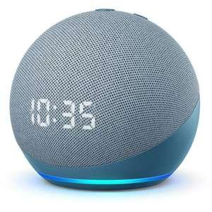 Assistant vocal / Enceinte connectée Amazon Echo Dot 4 avec horloge (Bleu-gris)
