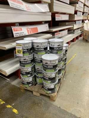 Pot de peinture Tollens blanc satin monocouche pour murs, plafonds & boiseries (10L) - Saint Germain du Puy (18)