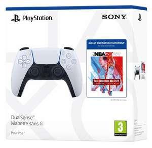 Manette sans Fil DualSense White + 3 packs MyTEAM (DLC) et 2 500 points MyTEAM pour NBA 2K22 sur PS5 + 1 mois Beinsport offert