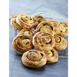 Lot de 6 pains aux raisins ou chaussons aux pommes pur beurre (×6)