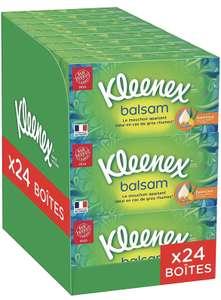 Lot de 24 Boîtes de 72 Mouchoirs Kleenex Balsam
