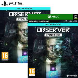 Observer : System Redux - Day One Edition sur Xbox One / Series X (18.99€ sur PS5)