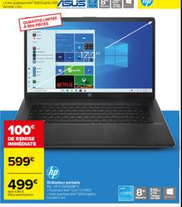 "PC Portable 17"" HP 17-CN0490NF - HD+, i3-1115G4, 8 Go RAM, 512 Go SSD, Windows 10"