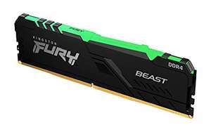 Barrette de RAM Kingston Fury Beast RGB - 8 Go DDR4, 3200 MHz, CL16
