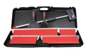 Kit Parfait Liss' spécial plaquiste: 4 lames + 2 couteaux + perche télescopique + valise de rangement (luniversdupeintre.com)