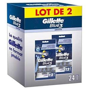 Lot de 24 Rasoirs Jetables Gillette Blue 3 Smooth