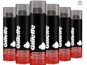 Lot de 6 bombes de mousse à raser Gilette peau normal - 6 x 300 ml