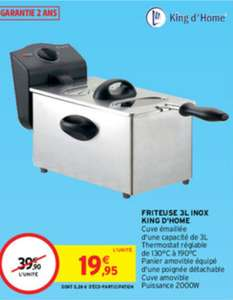 Friteuse inox King d'Home - 3L, 2000W