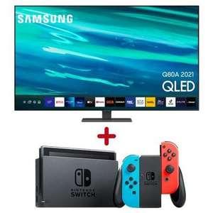 "TV QLED 65"" Samsung QE65Q80A - 4K UHD, 100 Hz, Smart TV + console Nintendo Switch Neon"