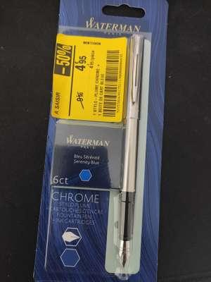 Stylo plume + 1 boîte de cartouches bleue sérénité Waterman Paris Chrome - Montesson (78)