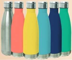 Bouteille isotherme en acier inoxydable double paroi - 500 mL, différents coloris