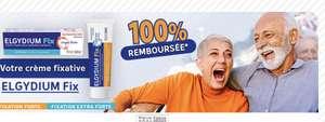 Crème fixative prothèses dentaire Elgydium Fix - Différentes variétés (100% remboursée via Quoty)