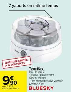 Yaourtière Bluesky BYM07-21 - 7 pots en verre de 200 mL