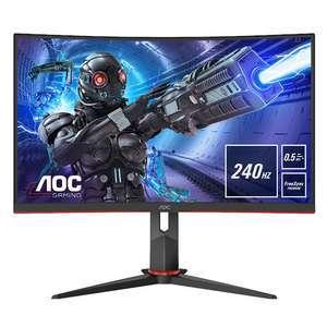 """Ecran PC 27"""" incurvé AOC C27G2ZU/BK - Full HD, Dalle VA, 240 Hz, 0.5 ms, FreeSync (Frontaliers Suisse)"""