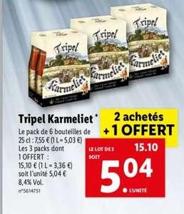 Lot de 3 packs de 6 Bières Tripel Karmeliet (18x 25 cl)