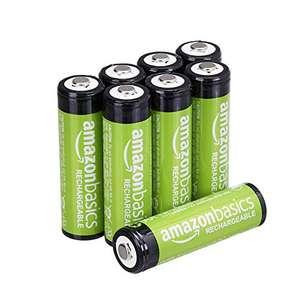 Lot de 8 piles rechargeables Amazon Basics AA - 2000 mAh, Pré-chargées