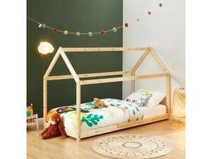 Lit Cabane Enfant Tiny Montessori - bois massif de pin naturel, 90x190cm (Vendeur tiers)
