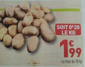 Filet de 10kg de pommes de terre de consommation - Catégorie 2, Origine France