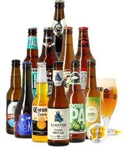 Assortiment de 11 bières + 1 verre (vendeur tiers)