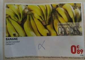 Bananes Cavendish - Différentes origines, catégorie 1 (le kg)